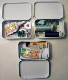Altoids tins turned into little kits as gifts (tutorial)