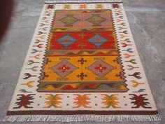 Armanian Caucasian New Handmade Karabakh Kilim Area Rug 9 x 6