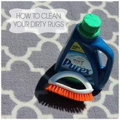 HOW TO CLEAN A DIRTY RUG | With Love, Grisel