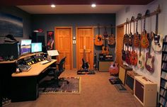 Man Cave Paintings Home Studio Music Rooms Small Bats Guitar