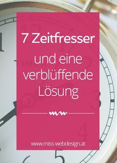 7 Zeitfresser, die dir deine Arbeit schwermachen (und eine verblüffend einfache Lösung) | miss-webdesign.at (scheduled via http://www.tailwindapp.com?utm_source=pinterest&utm_medium=twpin&utm_content=post100662905&utm_campaign=scheduler_attribution)