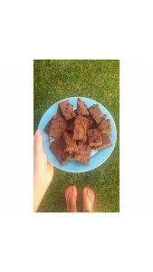 Brownie saudável com grão de bico | Healthy chickpea brownie