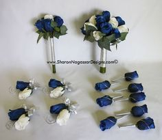 Blue Wedding Flowers | ... designs silk, latex, real touch, custom wedding flowers - Order status