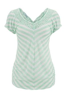 lace v-neck striped tee (original price, $29) available at #Maurices