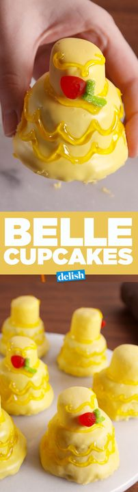 These Belle Cupcakes will make everyone want to be your guest. Get the recipe from Delish.com.