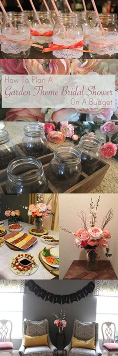 Great ideas for planing a garden theme bridal shower on a budget.