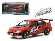 """Sean's 2006 Mitsubishi Lancer Evolution IX """"The Fast and The Furious: Tokyo Drift"""" Movie (2006 ) 1/43 Diecast Model Car by Greenlight - Brand new 1:43 scale diecast car model of Sean's 2006 Mitsubishi Lancer Evolution IX """"The Fast and The Furious: Tokyo Drift"""" Movie (2006 ) Diecast Model Car by Greenlight. Rubber tires. Brand new box. Limited Edition. Detailed interior, exterior. Comes in plastic display showcase. Dimensions approximately L-5 inches long.-Weight: 1. Height: 5. Width: 9. Box…"""