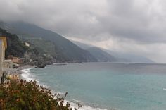 View from our hotel room balcony in Monterosso al Mare, Italy