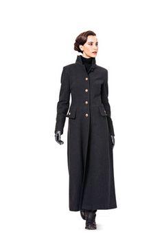 Schnittmuster: Mantel, Jacke mit Fellkragen und -aufschläge - Jacken - Damen - burda style