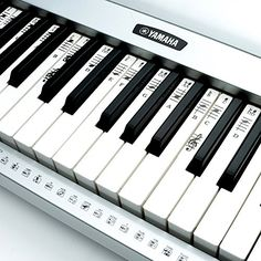 Piano Stickers for 49 / 61 / 76 / 88 Key Keyboards – Transparent and Removable