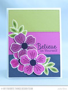 Flashy Florals Card Kit - Julie Dinn #mftstamps 3d Cards, Stampin Up Cards, Your Cards, Card Making Tutorials, Making Ideas, Mft Stamps, Heartfelt Creations, Card Kit, Flower Cards