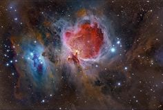 The Great Nebula in Orion (M42) - The gorgeous skyscape spans nearly two degrees or about 45 light-years at the Orion Nebula's estimated distance of 1,500 light-years.