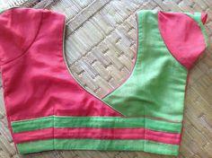 Two colour blouse