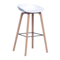 Hay: About a Stool barkruk - possibly for kitchen bar? Contemporary Bar Stools, Designer Bar Stools, Chaise Bar, Kitchen Stools, Bar Chairs, Room Chairs, Dining Chairs, White Decor, Bars For Home