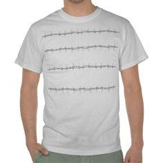 T-Shirt für Männer mit Stacheldrahtmotiv von Birgit Schlegel.