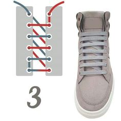 10 original ways to tie your laces (No. Ways To Lace Shoes, How To Tie Shoes, Your Shoes, Fashion Shoes, Fashion Accessories, Mens Fashion, Style Masculin, Tie Shoelaces, Diy Clothes