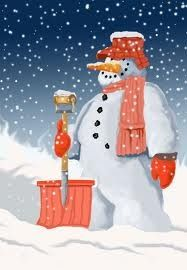 Sensational Snowman Ironically Happy with Shovel !!  <3