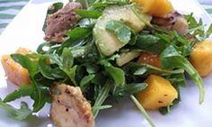 Warm chicken, avocado and mango salad - Kidspot
