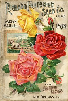 Richard Frotscher Seed Co. 1898 - Seed Catalogs from Smithsonian Institution Libraries Vintage Diy, Images Vintage, Vintage Pictures, Vintage Postcards, Vintage Cards, Garden Catalogs, Seed Catalogs, Images Noêl Vintages, Seed Art