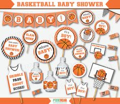 Basketball Baby Shower Printables by PixieBearParty on Etsy…