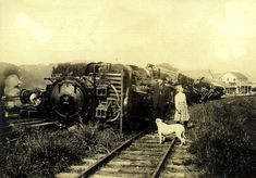 1906 earthquake train - 列車脱線事故 - Wikipedia