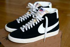 Nike Blazers black and white.