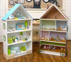 Dollhouse Bookcase: Beach Cottage, Brick Row House — Cute Ikea ...