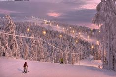 Slalom slope in Finnish Lapland - I've spent many winter weeks in these since I was 2 Good Neighbor, Pretty Photos, My Land, Winter Snow, Where To Go, Life Is Beautiful, Natural Beauty, Skiing, Scenery
