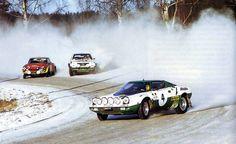 Rally di Svezia prova in Circuito a Karlstad : Fiat Abarth 124, Lancia Beta Coupe, Lancia Stratos