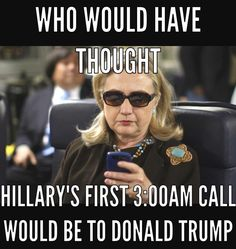 Hillary Killery's first and last 3AM call as Secretary of State was to concede to Trump. ~@guntotingkafir GOD BLESS AMERICA AND GOD BLESS PRESIDENT TRUMP!!!