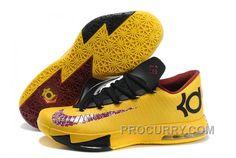 "cff5e95d4ed8 Nike Kevin Durant KD 6 VI ""PBJ"" Maze Yellow Dark Purple-Black For Sale  Discount"