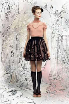 Red Valentino | Fall 2012 Ready-to-Wear Collection | Vogue Runway