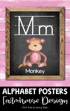 Farmhouse Animal ABC Posters - Printable Alphabet Posters for Classroom - Enjoy this adorable set of printable Farmhouse style ABC posters for your classroom! Each alphabet poster features a chic farmhouse design with an animal. These posters are the perfect addition to your walls and bulletin boards! Great for word walls and high frequency sight words. #abc #kindergarten #alphabet #posters #farmhouse #literacy #elementary #preschool #primary #wordwall Alphabet Posters, Abc Poster, Printable Alphabet, Abc Kindergarten, Preschool, Farmhouse Design, Farmhouse Style, 2nd Grade Activities, Word Walls