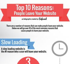 Top 10 Reasons People Leave Your Website Infographic created by Enfuzed