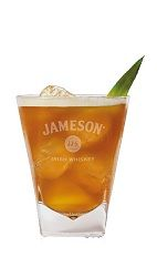 The Jameson Caramel Manhattan is a unique mix of flavors to create one of the best Saint Patrick's Day cocktails. An orange drink made from Jameson Irish whiskey, caramel vodka, #sweet red vermouth, pineapple juice and bitters, and served over ice in a rocks glass.#