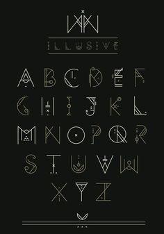 Alphabet self improvement writing fonts, fonts, art deco fon Alphabet Symbols, Hand Lettering Alphabet, Alphabet Design, Calligraphy Letters, Alphabet Art, Schrift Design, Writing Fonts, Writing Styles, Writing Ideas