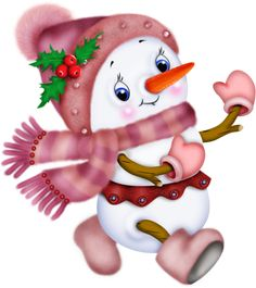 Chirstmas Clip art of snowman Christmas Cards To Make, Pink Christmas, Christmas Pictures, Christmas Snowman, Christmas Time, Christmas Crafts, Christmas Ornaments, Cute Snowman, Snowman Crafts