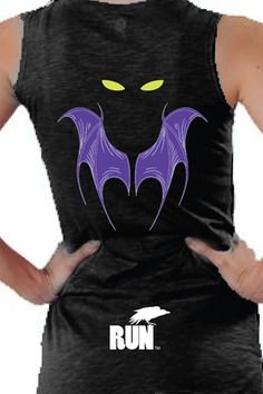 Malificent top Evil Fairy 'Glow in the Dark'' Technical Tank for Run Disney in August. Pair with a purple running skirt and Malificent headband (ears) that I already have. Disney Princess Half Marathon, Disney Marathon, Marathon Gear, Disney 10k, Disney Races, Running Skirts, Running Tanks, Running Gear, Run Disney Costumes