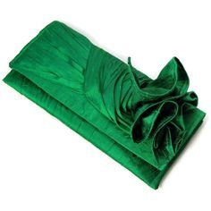Knot Clutch Evening Purse in Emerald Green for Bride