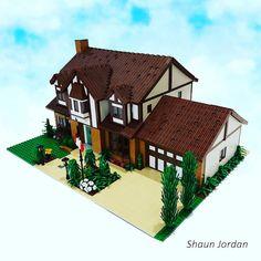 Tudor style House | by shaunjordan Lego Structures, Amazing Lego Creations, Tudor Style Homes, Lego Modular, Lego Castle, Lego Architecture, Lego Projects, Everything Is Awesome, Everyday Objects
