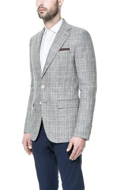 Zara sports coat Image 2 of CHECKED BLAZER from Zara