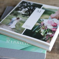 What a fun idea of having your wedding photos as a coffee table photo album!