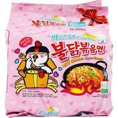 Samyang Bulldark Spicy Chicken Roasted Noodles Oz X 1 Pack) You can enjoy the spicy taste of Korean ramen The spicy flavor of roasted chicken and softness of Carbo cream is a harmonious taste Composition: Noodle, liquid soup, vegetable flakes Stir Fry Ramen Noodles, Samyang Ramen, Fried Ramen, Korean Fire Noodles, Cheese Ramen, Fire Chicken, Chicken Curry, Types Of Noodles, Asian Snacks