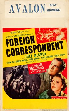 Alfred Hitchcock's Foreign Correspondent (1940).