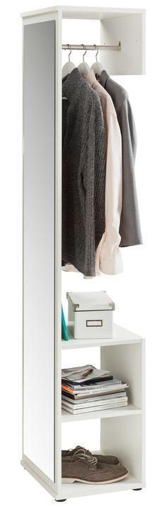 Garderobe weiss matt Woody 91-00367 b 42 / h 197 / t 37,5 cm