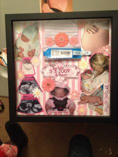 Birth shadow box- but we'll need to do this in blue