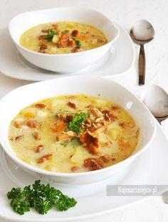 Zupa z kurkami i mięsem