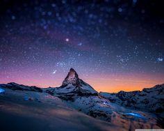 #matterhorn #stars #mountain #night