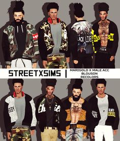 STREET | SIMS ™,             StreetxSims - Marigold Male Acc...