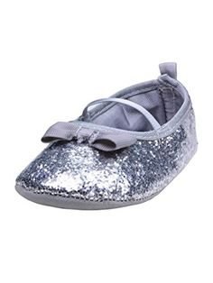 Voberry Baby Girl Soft Sole Bowknot Bling Sequins Mary Jane Ballet Flat Prewalker Socks Sneakers